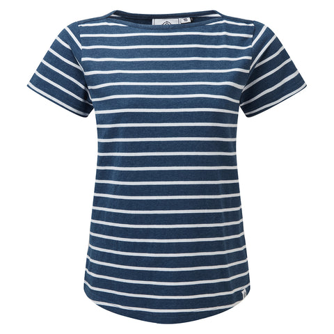 Carson Womens T-Shirt - Denim Marl Stripe