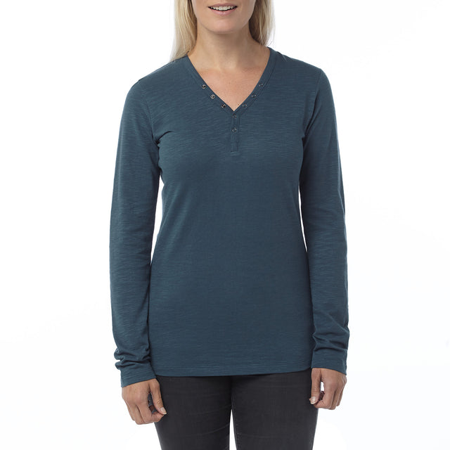 Catwick Womens Long Sleeve T-Shirt - French Navy image 2