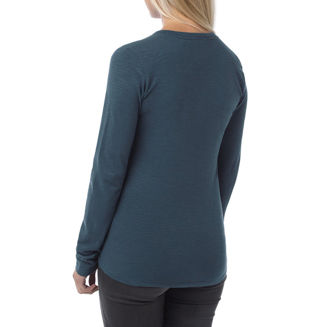 Catwick Womens Long Sleeve T-Shirt - French Navy image 3