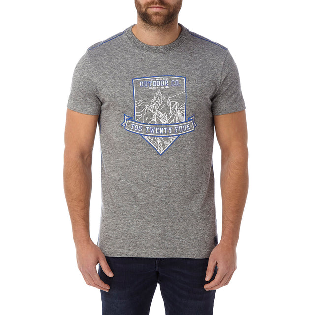 Chapman Mens Deluxe T-Shirt - Dark Grey Marl Shield image 2