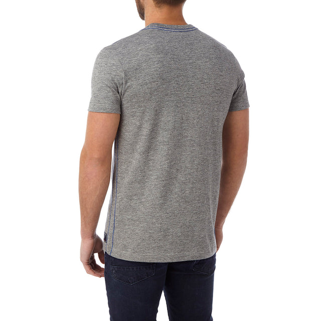 Chapman Mens Deluxe T-Shirt - Dark Grey Marl Shield image 3