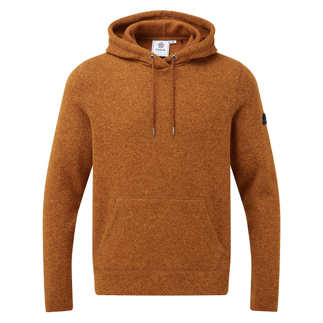 Chilton Mens Knitlook Fleece Hoody - Amber Marl image 5