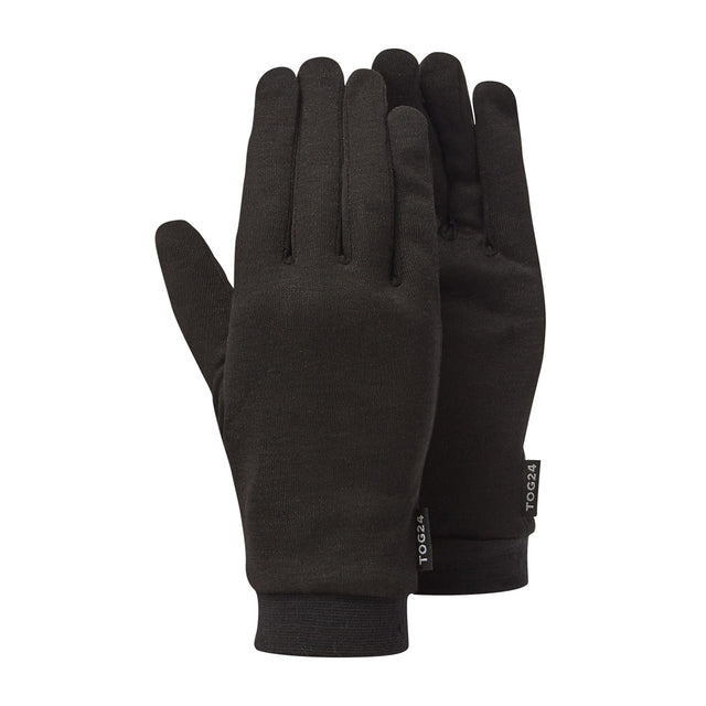 Cocoon Silk Liner Gloves - Black