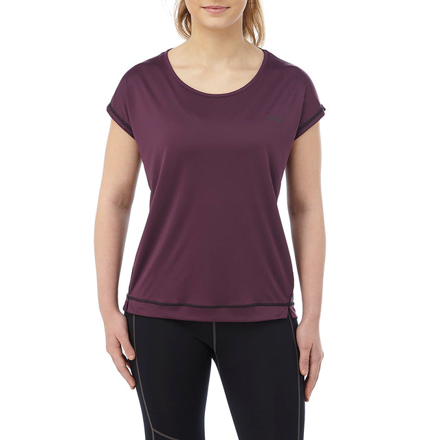 Courtney Womens Performance T-Shirt - Deep Port image 2