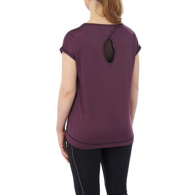 Courtney Womens Performance T-Shirt - Deep Port image 3