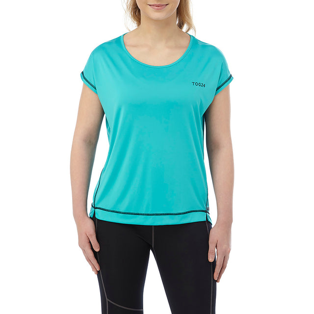Courtney Womens Performance T-Shirt - Turquoise image 2