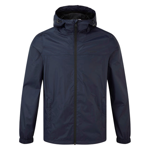 Craven Mens Waterproof Packaway Jacket - Navy