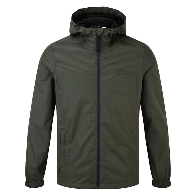 Craven Mens Waterproof Packaway Jacket - Dark Khaki image 6