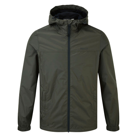 Craven Mens Waterproof Packaway Jacket - Dark Khaki