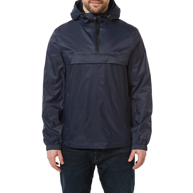 Craven Mens Waterproof Packaway Overhead - Navy image 2