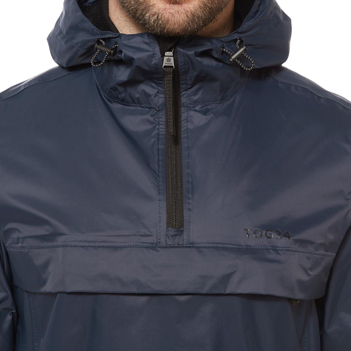 Craven Mens Waterproof Packaway Overhead - Navy image 4
