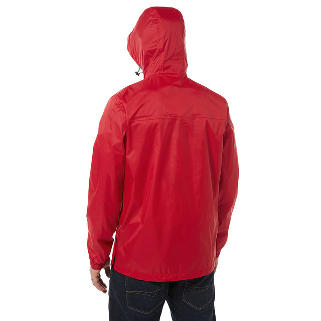 Craven Mens Waterproof Packaway Overhead - Chilli image 3