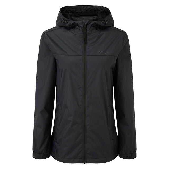 Craven Womens Waterproof Packaway Jacket - Black image 1