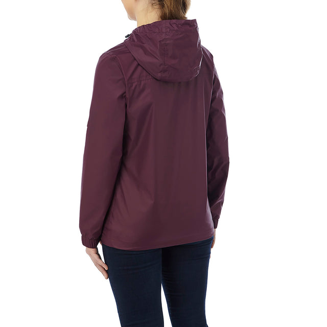 Craven Womens Waterproof Packaway Jacket - Deep Port image 2