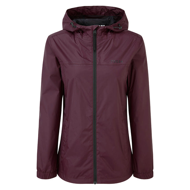 Craven Womens Waterproof Packaway Jacket - Deep Port image 1