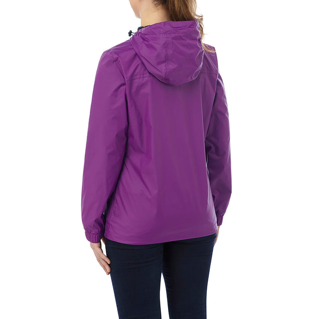 Craven Womens Waterproof Packaway Jacket - Grape image 2