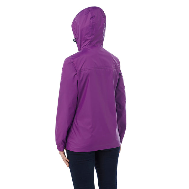 Craven Womens Waterproof Packaway Jacket - Grape image 3