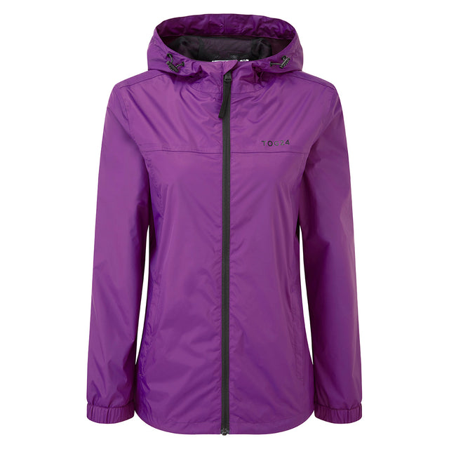 Craven Womens Waterproof Packaway Jacket - Grape image 1
