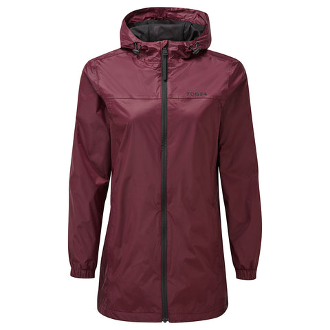 Craven Womens Long Waterproof Packaway Jacket - Deep Port