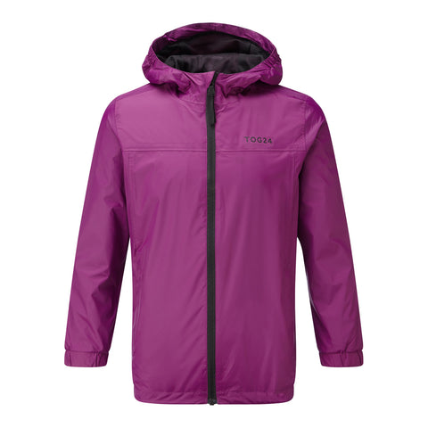Craven Kids Waterproof Packaway Jacket - Grape Juice