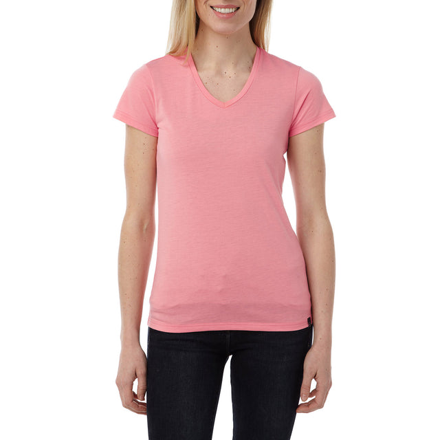 Daisy Womens Dri Release Wool T-Shirt - Light Salmon image 2
