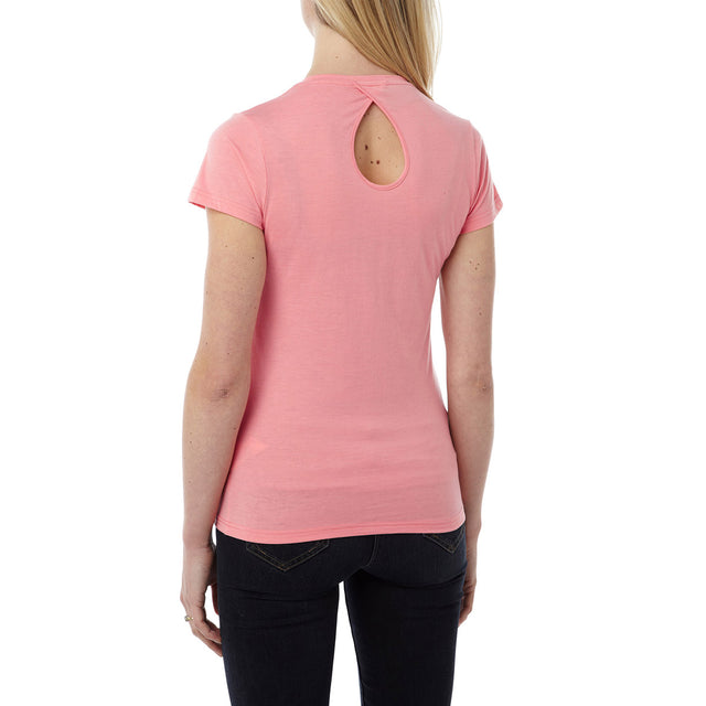 Daisy Womens Dri Release Wool T-Shirt - Light Salmon image 3