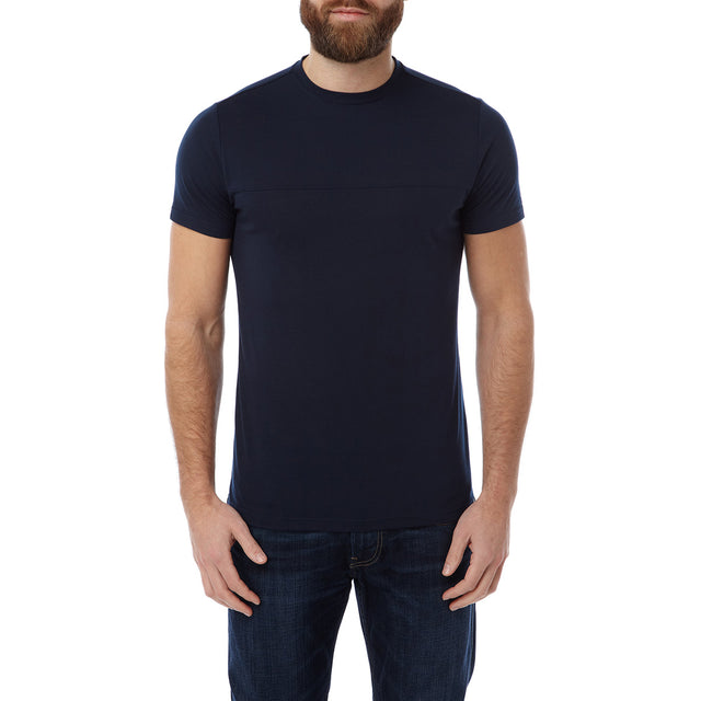 Dale Mens Dri Release Wool T-Shirt - Navy image 2