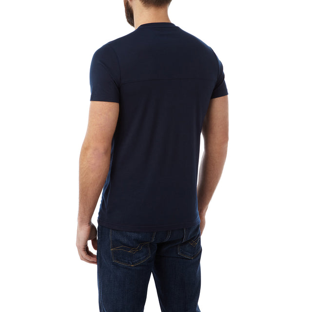 Dale Mens Dri Release Wool T-Shirt - Navy image 3