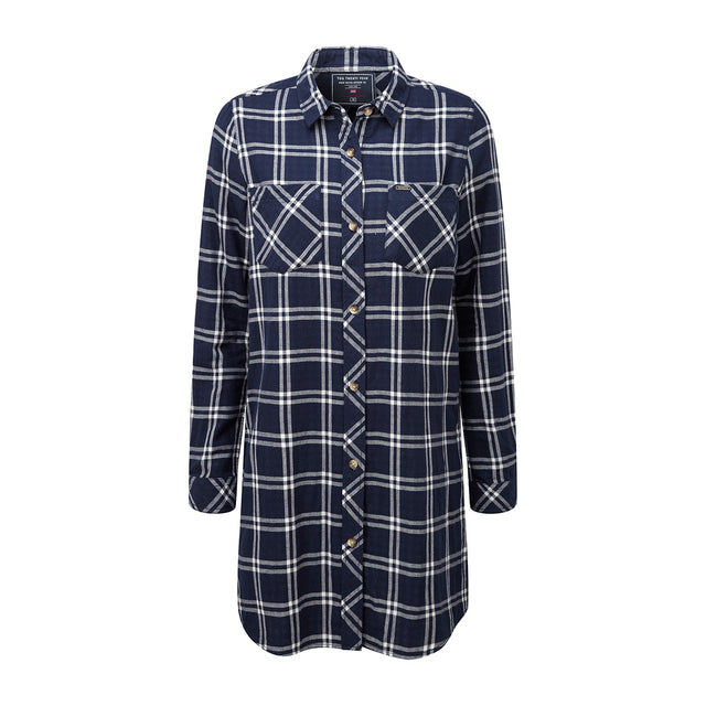 Dalton Womens Double Weave Shirt - Navy Check image 1