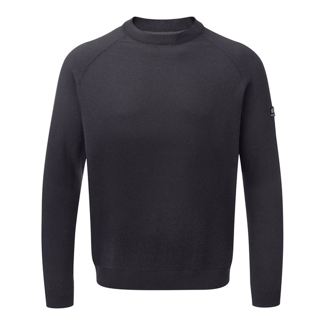 Darton Mens Cashmere Mix Crewneck Jumper - Navy image 1