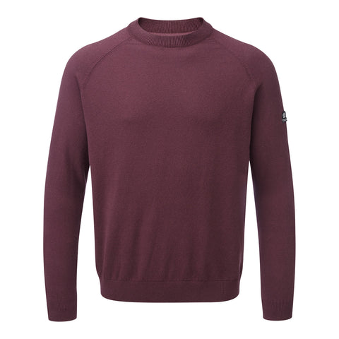 Darton Mens Cashmere Mix Crewneck Jumper - Deep Port