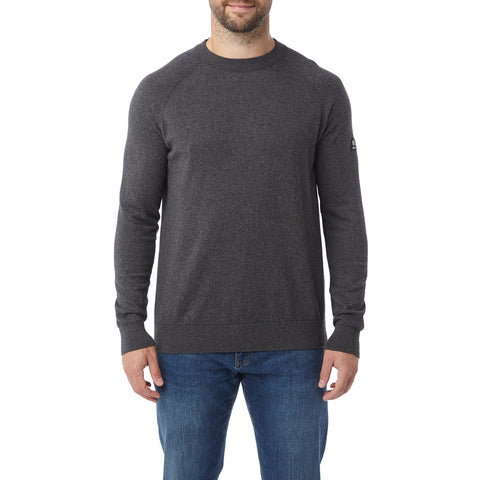 Darton Mens Cashmere Mix Crewneck Jumper - Dark Grey Marl
