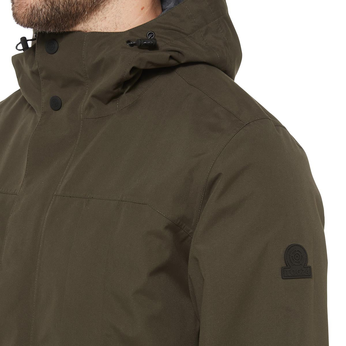 Dawson Mens Long Waterproof Jacket - Dark Khaki image 4