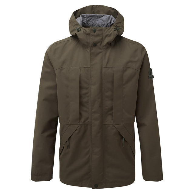 Dawson Mens Long Waterproof Jacket - Dark Khaki image 1