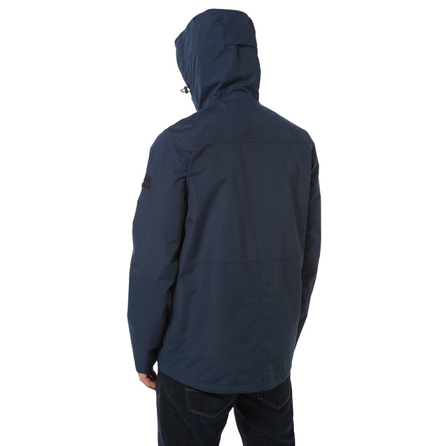 Dawson Mens Long Waterproof Jacket - Naval Blue image 3