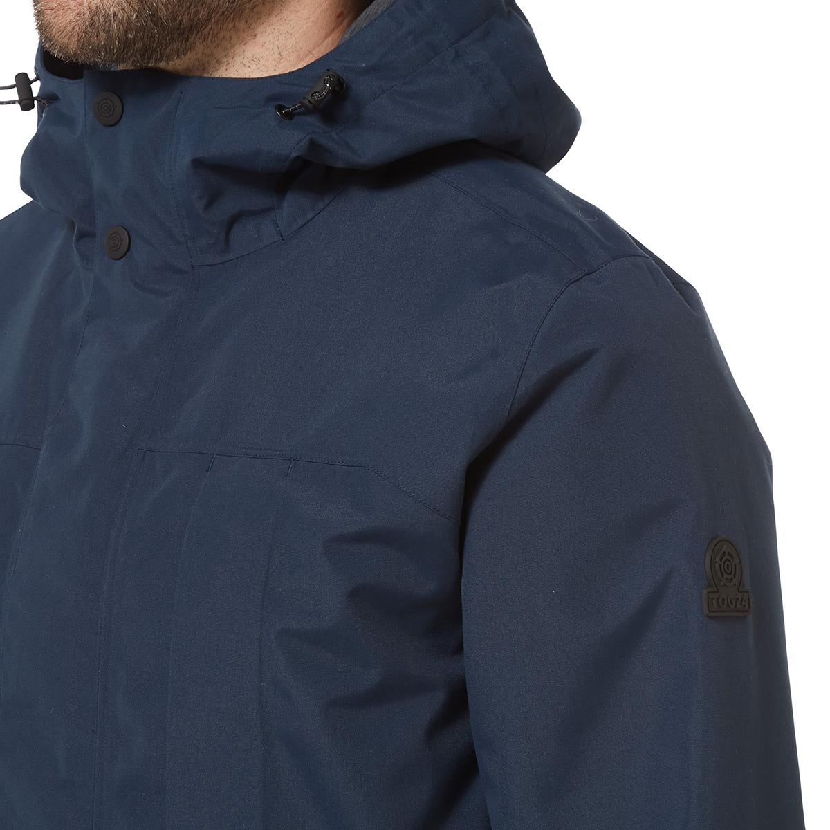 Dawson Mens Long Waterproof Jacket - Naval Blue image 4