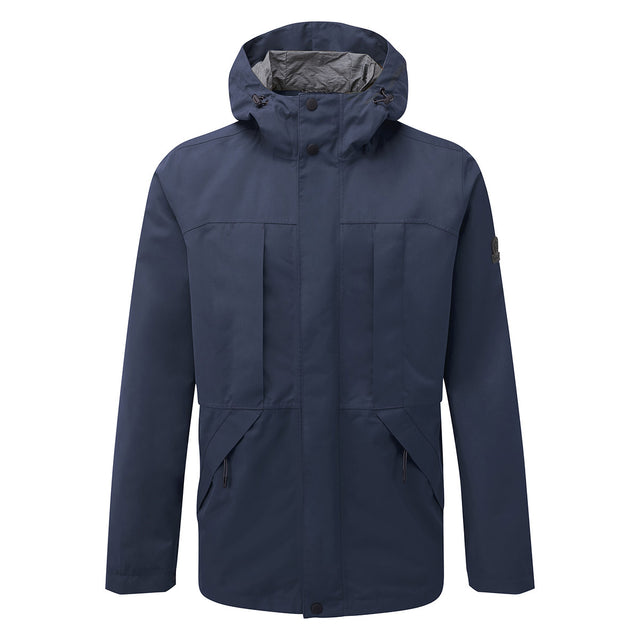 Dawson Mens Long Waterproof Jacket - Naval Blue image 1