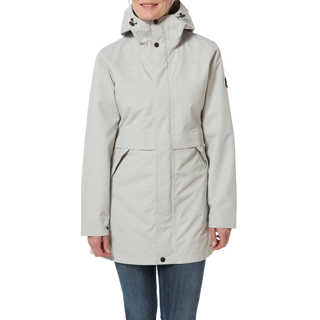 Dawson Womens Long Waterproof Jacket - Cold Grey image 2