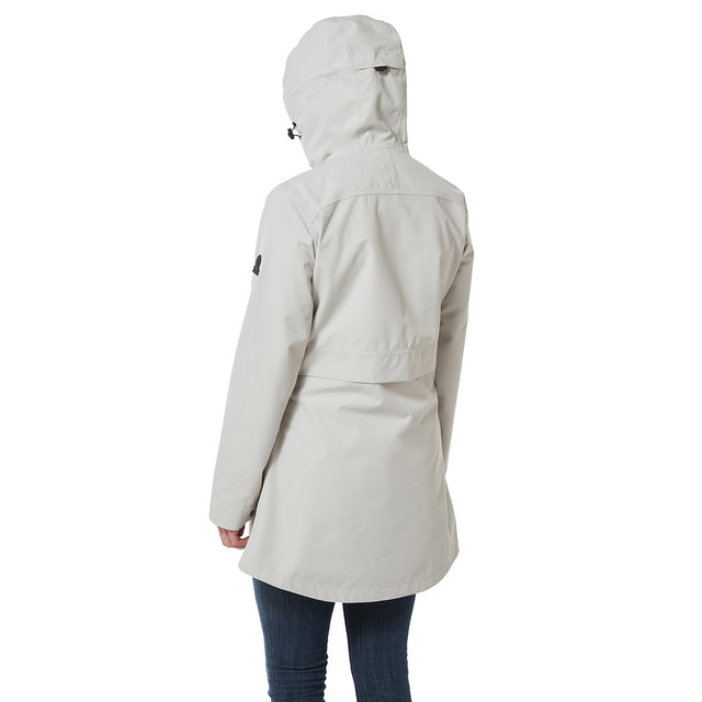 Dawson Womens Long Waterproof Jacket - Cold Grey image 3
