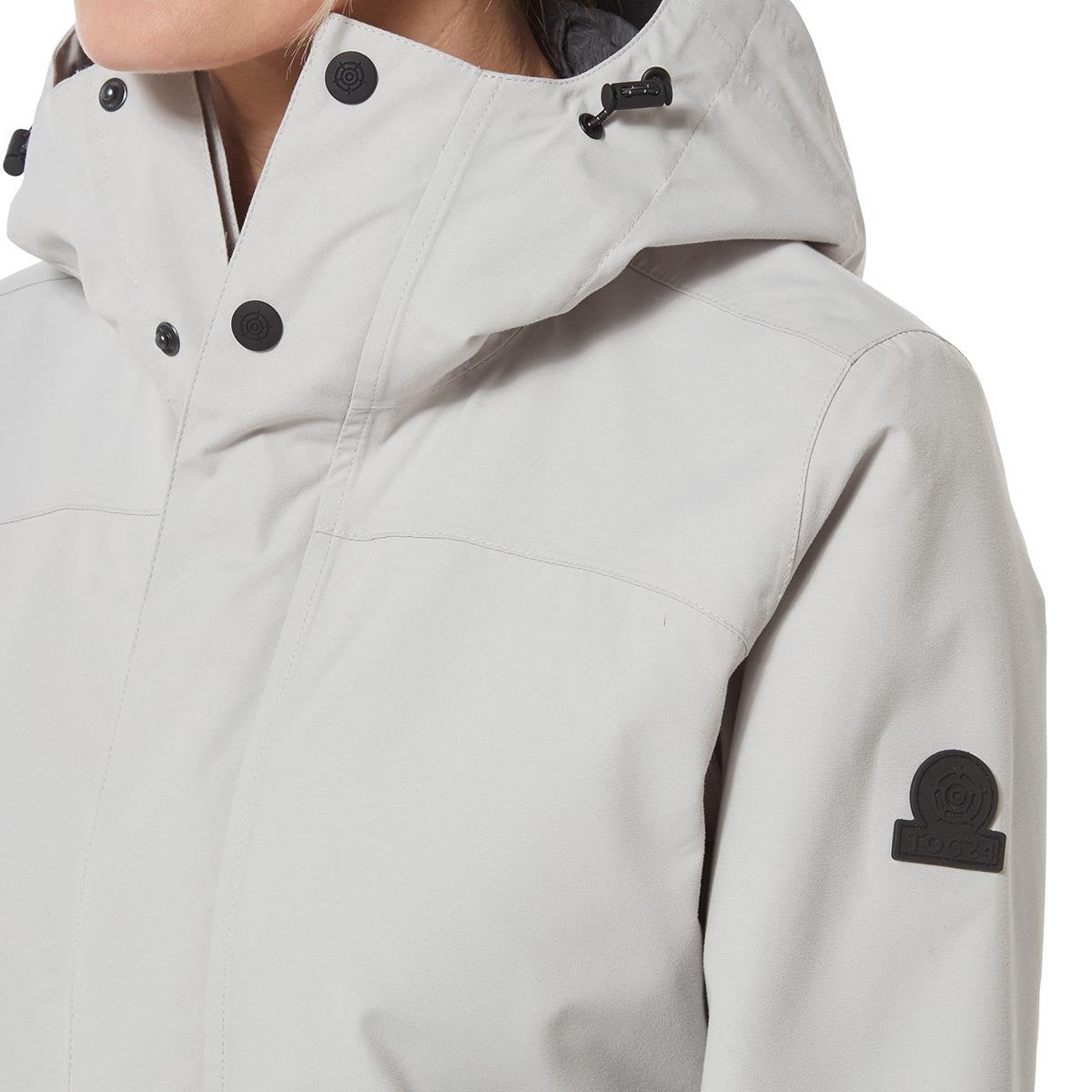 Dawson Womens Long Waterproof Jacket - Cold Grey image 4