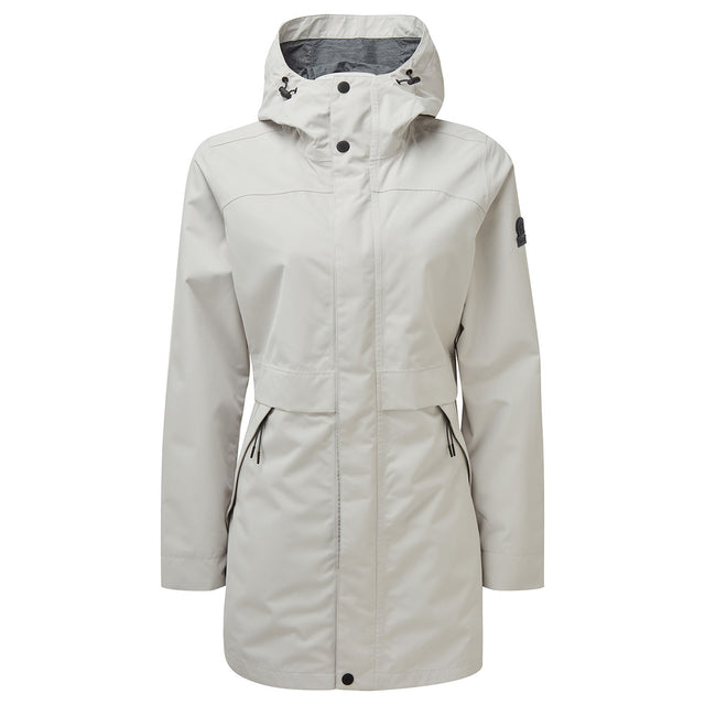 Dawson Womens Long Waterproof Jacket - Cold Grey image 1