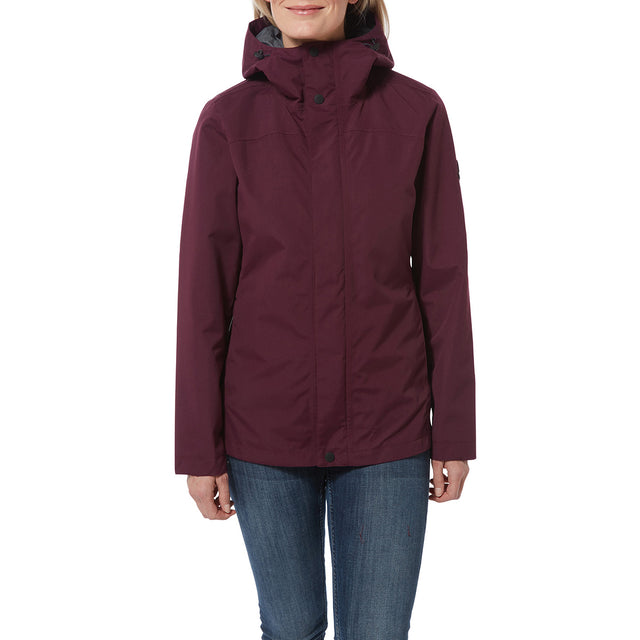 Dawson Womens Waterproof Jacket - Aubergine image 2