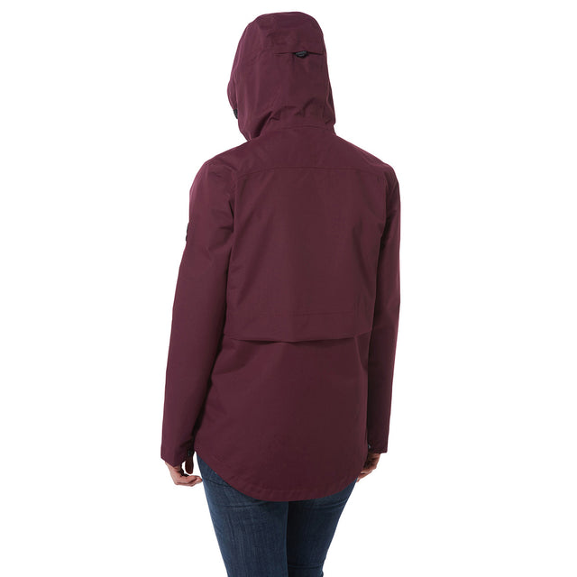 Dawson Womens Waterproof Jacket - Aubergine image 3