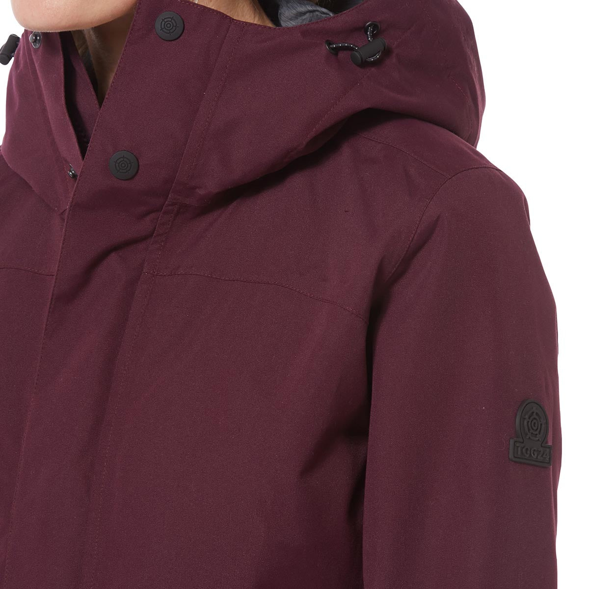 Dawson Womens Waterproof Jacket - Aubergine image 4