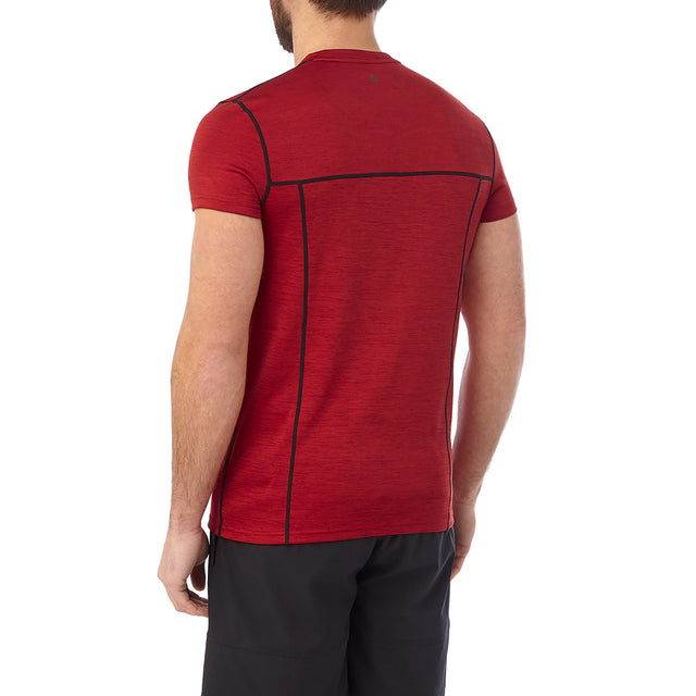 Dive Mens Performance T-Shirt - Chilli Marl image 3