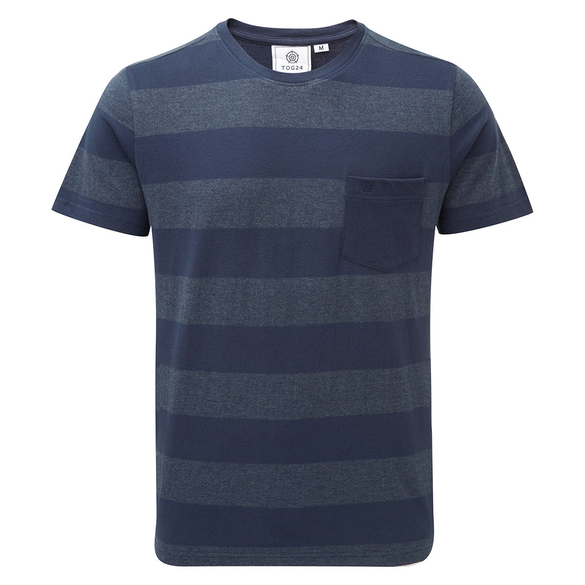 Dixon Mens T-Shirt - Naval Blue Stripe