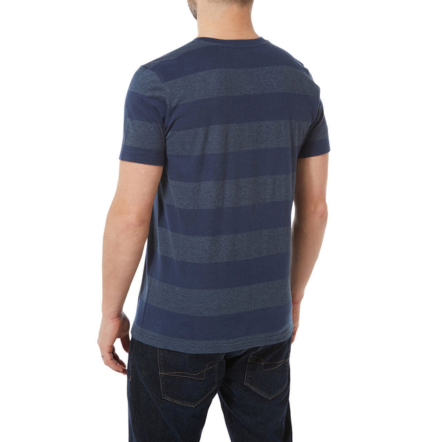 Dixon Mens T-Shirt - Naval Blue Stripe image 3