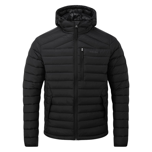 Drax Mens Hooded Down Jacket - Black image 6
