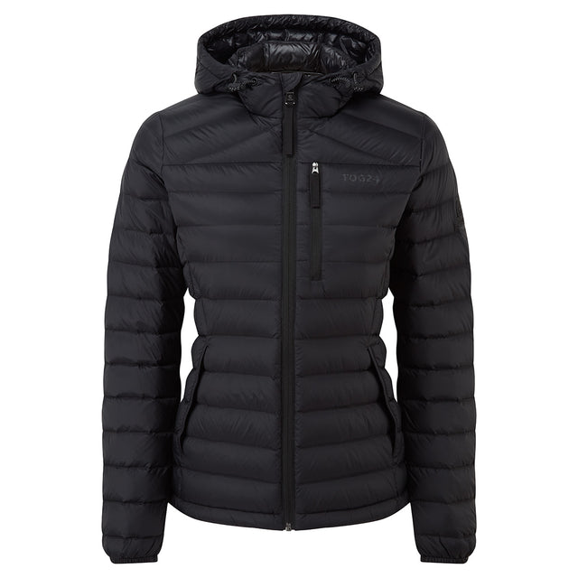 Drax Womens Hooded Down Jacket - Black image 5