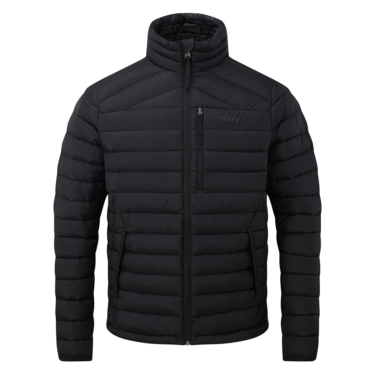 Drax Mens Funnel Down Jacket - Black image 4